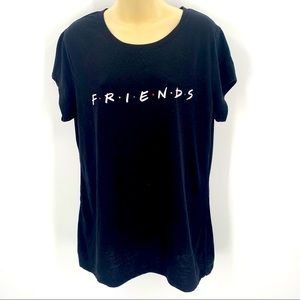 FRIENDS Tshirt Juniors XXXL Size 21 Black Tee